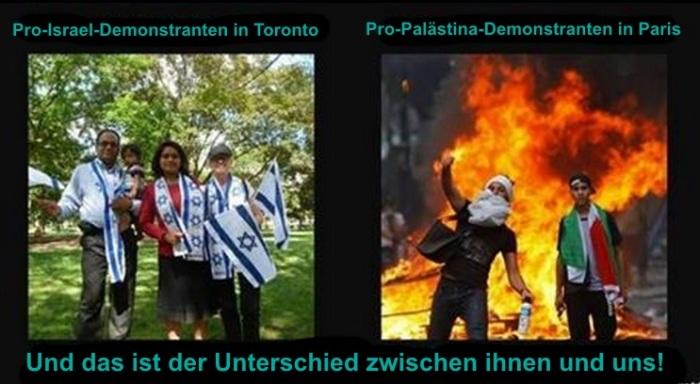 Demonstranten-Unterschiede
