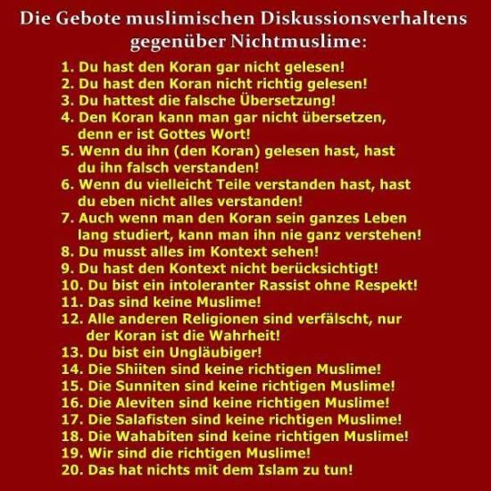 Muslim-Dikussionsverhalten