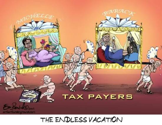 Obama.vacation+taxpayers