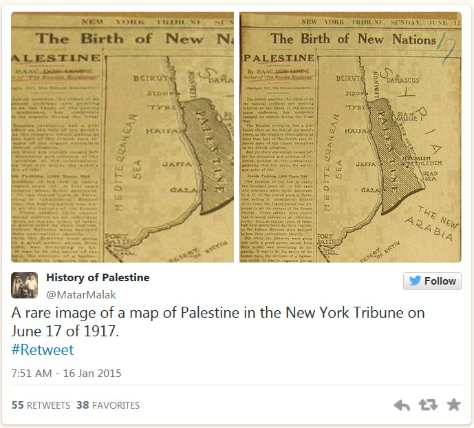 history-of-palestine-tweet-lie