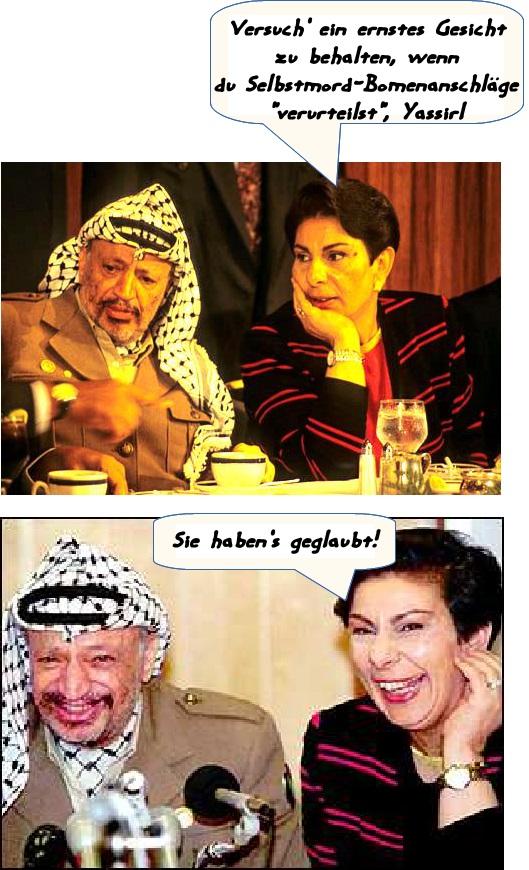 EoZ_HananAshrawi+Arafat-lügen