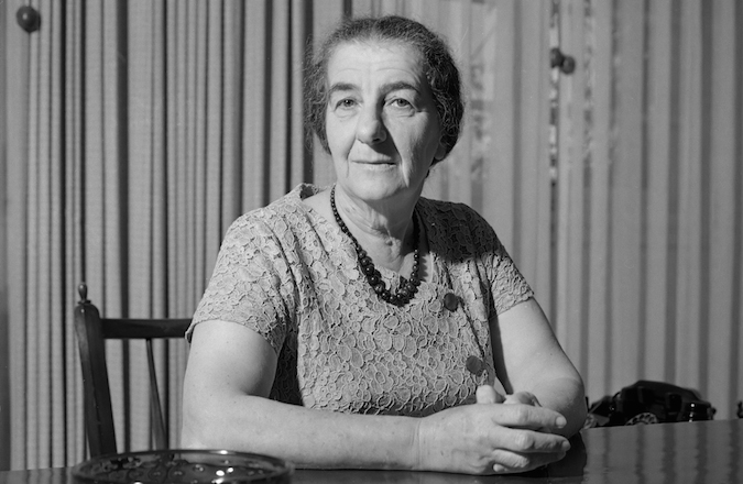 Golda Meir, minister van buitenlandse zaken van Israel
