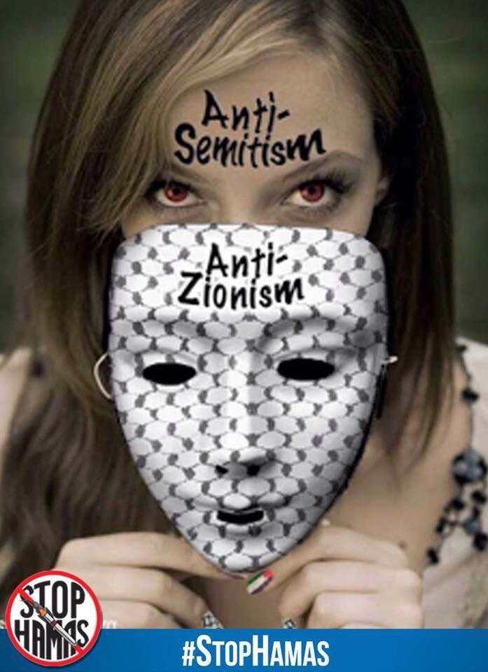 Maske_Antizionismus-Antisemitismus