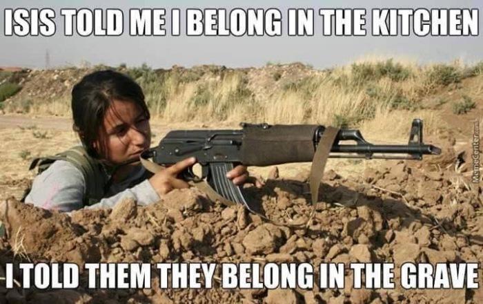 Kurische-Kämpferin-gegen-ISIS