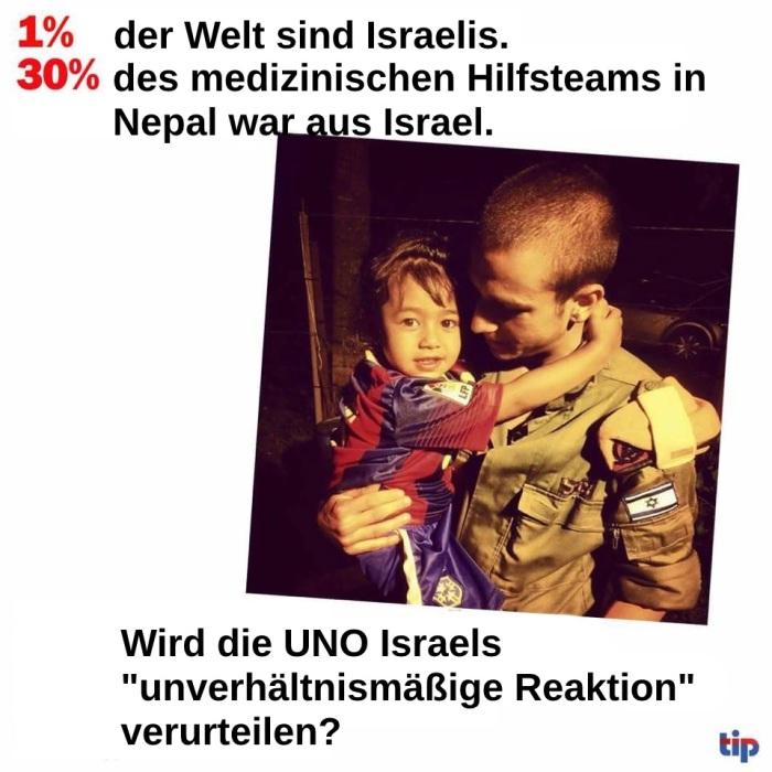Nepal_unverhältnismäßiges-Israel