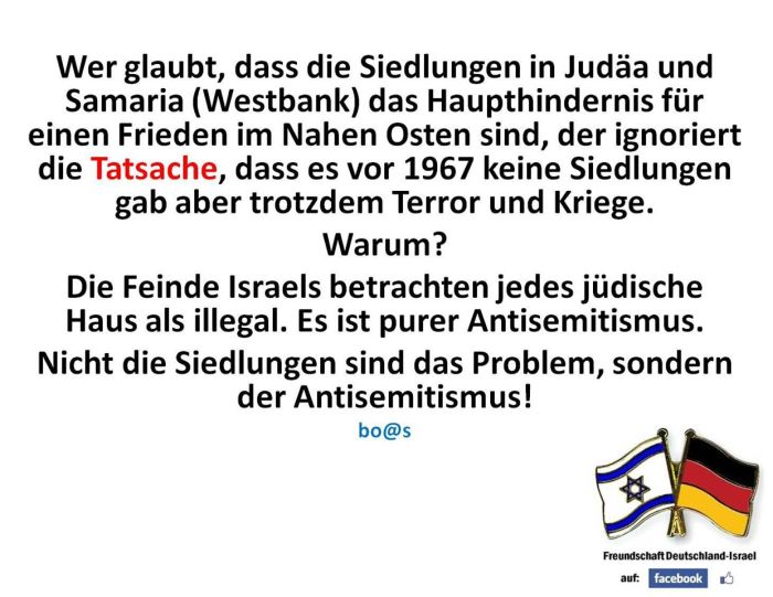 Friedenshindernis-Siedlungen