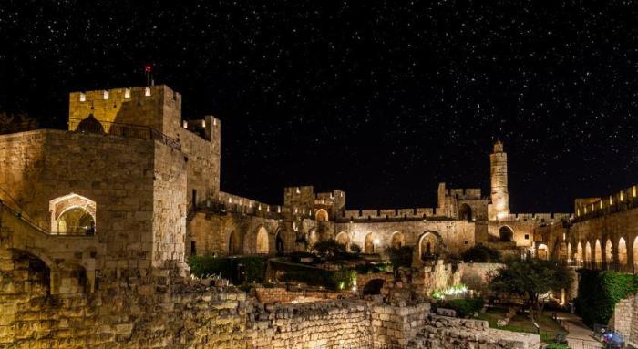 Jerusalem-Davidturm-nachts