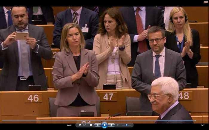 EU-Parlament-Applaus-Abbas