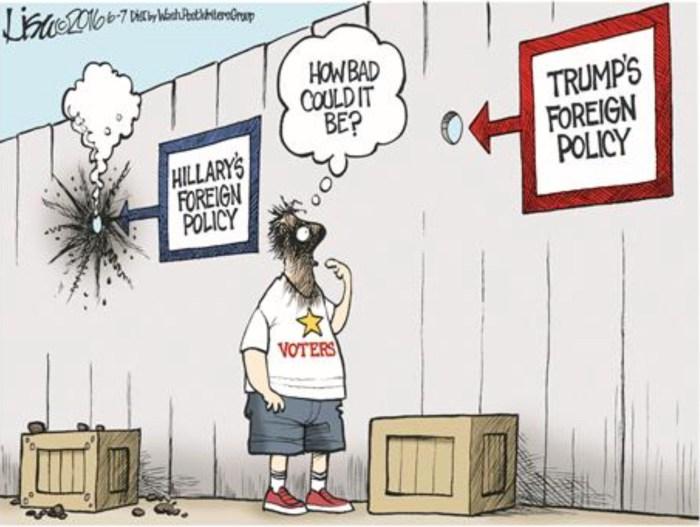 Obama_Hillary-v-Donald-aussenpolitisch