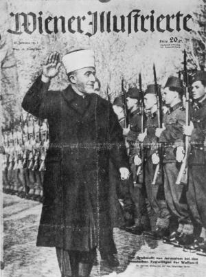 Haddsch Amin nimmt eine muslimische SS-Einheit ab